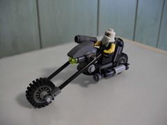 Szakal's Chopper (Śląski Hutas) Tags: bike moc lego motorcycle chopper greypuke mercenary