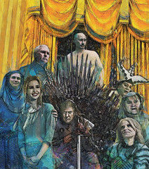 a song of ice and fire (Bill Sargent) Tags: trump priebus bannon pence conway ivanka putin gameofthrones politics president