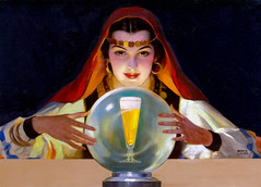 Drink Budweiser - America's Social Companion by Andrew Loomis (Tom Simpson) Tags: andrewloomis painting art vintage illustration woman girl drinkbudweiser americassocialcompanion budweiser beer crystalball fortuneteller