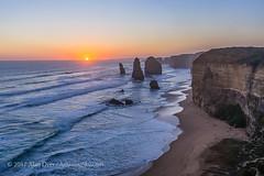 Sunset at Twelve Apostles (Amazing Sky Photography) Tags: sunset twelveapostles 12 seastacks cliffs settingsun ocean waves hdr australia greatoceanroad sky sun ruleofthirds acr alberta canada