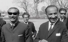 Sheikh Mujibur Rehman arriving with Air Marshal Asghar Khan (Doc Kazi) Tags: president ayub khan muhammad pakistan history end regime talks 3 march 1969 all leading politicians except bhutto
