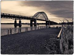 Landers Point Pier (BlogKing) Tags: bw tacony filmemulation splittone