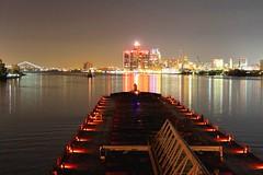 Downtown Detroit.... (knutsonrick) Tags: detroit detroitriver footer 1000footer itb olivelmoore lewisjkuber indy asc americansteamshipcompany mvindianaharbor gm gmbuilding gmheadquarters renaissancecenter skyline cityscape ambassadorbridge