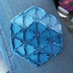 Lago Maggiore (Dasssa) Tags: origami paper paperain tessellation paperfolding blue lagomaggiore