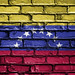National Flag of Venezuela on a Brick Wall
