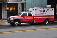 FDNY EMS Ambulance 017 (Triborough) Tags: ny nyc newyork newyorkcity newyorkcounty manhattan chelsea fdny newyorkcityfiredepartment ems fdnyems firetruck fireengine ambulance dodge b4500 wheeledcoach