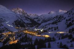 Méribel - Les 3 vallées (France) (Mathulak) Tags: méribel mottaret 3vallées nuit night tarentaise ski méribelmottaret savoie montagne neige mountain snow stars étoiles