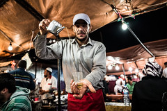 Tea mint-flavoured (superUbO) Tags: jamaaelfna marrakech marocco portrait market people travelphotography colors square hand leica q uboldiemanuele wwwphotoworksit tea mint flavoured dinner nigth light
