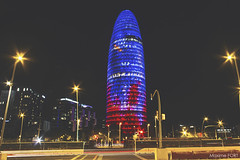 Le suppositoire barcelonais (Maxime FORT) Tags: maximefort canon canon7d night barcelone tour tower agbar touragbar barcelona
