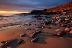 Shadow Play (johnkaysleftleg) Tags: seaham sunrise morning beach seahamharbour stones sand shadow warmlight durhamcoast northeast england cloud canon760d sigma1020mmf456exdchsm ndhardgrad06