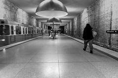Station Westfriedhof: In Monochrome (2/2) (jaeschol) Tags: bayern deutschland europa germany kontinent munich münchen de westfriedhof ubahn underground