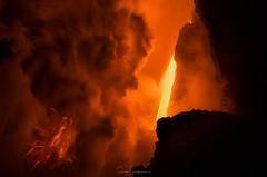 Fire Fall (Sairam Sundaresan) Tags: lavaflow landscape firefalls nature surfaceflow 61g lava hawaii fire finished fall firefall sairamsundaresan sonyalpha hilo color oceanentry sonya7rii colors outdoor sky bigisland wilderness kalapana