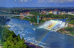 America Falls from Tower Hotel (cmfgu) Tags: niagarafalls ontario canada waterfall towerhotel americanfalls hdr highdynamicrange niagarariver rainbow niagaragorge newyork rainbowbridge bridalveilfalls craigfildesfineartamericacom art wall canvasprint framedprint acrylicprint metalprint woodprint greetingcard throwpillow duvetcover totebag showercurtain phonecase sale sell buy purchase gift craigfildes artist photographer photograph photo picture prints