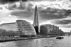 The Shard (Rob A Dickinson) Tags: nikon d7100 sigma2470f28 london blackandwhite monochrome shard skyline thames