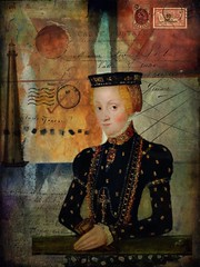 Portrait 51 - The Traveler (jimlaskowicz) Tags: zanzibar portrait painterly textures impressionistic surreal mystery traveler lady postcard vintage victorian