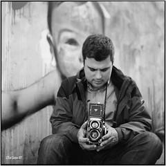 Domagoj and his most loved toy_Rolleiflex 3.5B (ksadjina) Tags: 6x6 carlzeisstessar35 croatia domagoj nikonsupercoolscan9000ed opatija rolleiflex35b silverfast analog film scan