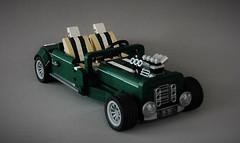 Lego 10242 remake - Hotrod (adde51) Tags: alternate alternative adde51 lego moc car cars mini cooper 10242 hotrod hot rod dark green engine remake