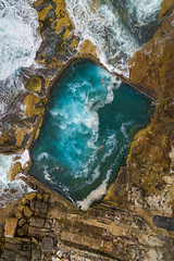 Above Mahon (Rodney Campbell) Tags: maroubra mahon pool drone ocean topdown water rocks newsouthwales australia au