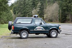 Twin Peak tour Sheriffs car (Beautification Syndrome) Tags: seattle trip snoqualmiefallstwinpeaks twinpeakstour twinpeakslocations snoqualmiefalls