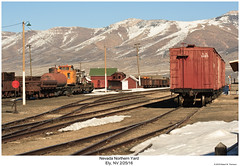 NN Yard Ely NV (Robert W. Thomson) Tags: nn nevadanorthern train trains trainyard railroad railway ely nevada