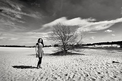 On the sandplain. (wimkappers) Tags: blackwhitephotos bw monochrome sands people skancheli