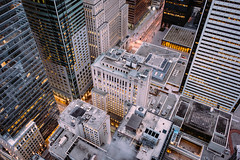 proximity. (jonathancastellino) Tags: toronto architecture cbd downtown district financialdistrict leica m down evening light change transition proximity roof rooftop rooftopping street bay aross steam track
