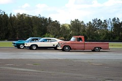 1966 CHEVROLET PICKUP UTILITY AND TWO FORD FALCONS (bri77uk) Tags: norwell queensland rustandchrome classiccars showandshine show shine