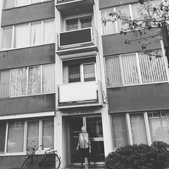 Childhood Home (chantalliekens) Tags: memories childhoodhome home monochrome people borgerhout antwerp city buildings outdoor architecture flats bw blackandwhite filtermoon iphone6s iphone instagramapp square squareformat iphoneography moon