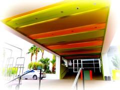 check in (milomingo) Tags: saguarohotel scottsdale arizona southwest getaway rnr resort outdoor motif photoborder multicolored green port perspective line geometry entrance angle diagonal