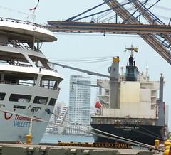 Thomson Dream & Maersk Walvis Bay (Hear and Their) Tags: norwegian pearl