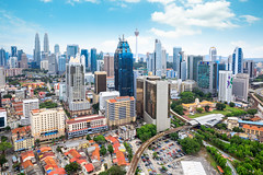 Kuala lumpur city (Patrick Foto ;)) Tags: aerialview buildingexterior businessfinanceandindustry capitalcities colorimage crowded downtowndistrict futuristic highangleview photography traveldestinations urbanskyline architecture city cityscape day horizontal kualalumpur malaysia modern outdoors panoramic sky skyscraper tower tree federalterritoryofkualalumpu federalterritoryofkualalumpur my