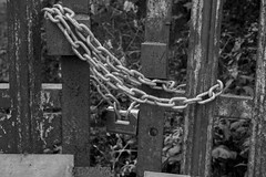 Lock & Chains bw (martin.bruntnell) Tags: canonf1250mmlens l39