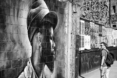Phases (thomasthorstensson.photography) Tags: spring composition shoreditch chaos streetphotography graffiti explore urban sidewalk monochrome communication honest fujifilmxt1 xf35mm14r candid local wall human 2017 april amalgam anatomy bw blackandwhite blend borough candidphotography citified city consider discord entropy fallible footpath frank free mortal path probe structure town track urbanphotography london