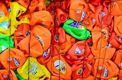 Study in Orange and Green (Studio d'Xavier) Tags: werehere thispicturesucks orange plastic trash recycle