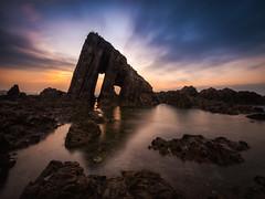 Monolito (bertigarcas) Tags: olympus omd em5 zuiko 918 paisaje landscape marina seascape atardecer sunset nature ocean sea vallina playa beach asturias spain españa