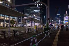 Bus Terminal (abandoned), Meieki-Dori, Nagoya (kinpi3) Tags: 名古屋 japan nagoya night cityscape ricoh gr meieki