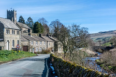 DSC- 0115 - The village of Muker (SWJuk) Tags: swjuk uk unitedkingdom gb britain england yorkshire northyorkshire yorkshiredales dales swaledale muker village quaint picturesque bluesky 2017 mar2017 spring holidays outdoor landscape nikon d7100 nikond7100 18300mm rawnef lightroom