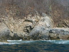 Rock Face (Toats Master) Tags: mexico huatulco rocks shoreline sculpture carving face man ocean water