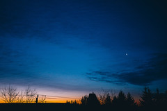like the moon, i'll rise (viewsfromthe519) Tags: morning dawn sunrise moon sky skyscape clouds blue orange golden silhouette trees stthomas ontario canada