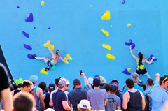 POP_8038 (Philip Osborne Photography) Tags: nationalwhitewatercenter charlotte nc tuckfest womensdeepwater rock climbers pro woman shorts sports bra athletic active ponytail falling kyracondie alexjohnson biminihorstman deepwatersolo climbing 2017