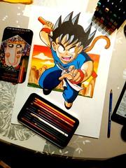 son goku #son goku #dragonball #anime #manga #comic #akiratoriyama #dibujos #prismacolor #copic #ilustracion (alexilustrador) Tags: dragonball copic comic ilustracion akiratoriyama manga prismacolor son anime dibujos