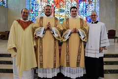 New Deacons with Seminary Rector and Vice Rector.