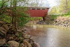 Everett Road Covered Bridge (Singing Like Cicadas) Tags: 2017 april spring bridge outdoors akron summitcounty ohio roamohio ruralohio onethousandgifts cuyahogavalleynationalpark water waterscape river cuyahogariver cvnp