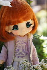 Kikipop n Spring (little ♡ lovelies) Tags: azone kikipop girl marmaladebrown kinoko juice kiki bjd ball jointed doll handmade tulle tutu starry skirt