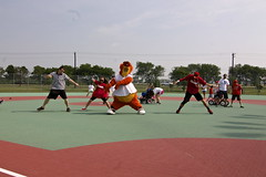 The Miracle League (Frisco RoughRiders) Tags: miracle crew mascots deuce league frisco roughriders