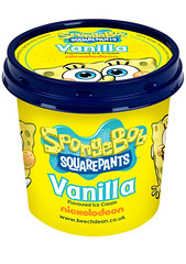 SpongeBob SquarePants Vanilla Ice Cream (FoodBev Photos) Tags: food yellow dessert milk cartoon icecream tub vanilla dairy spongebobsquarepants nickelodeon beechdeangroup