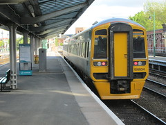 Photo of Arriva Trains Wales Class 158 no. 158834, Shrewsbury