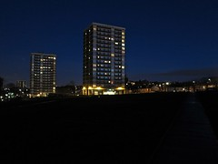 Armley, Leeds (Timbo_a_go_go) Tags: tower lights dusk sleep leeds flats nighttime blocks hirise armley burnsall