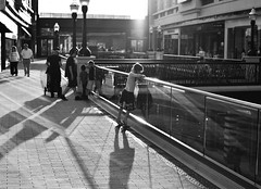 Always in the Spotlight (JasonCameron) Tags: light sunset sun white black cute girl beautiful smile face shop mall fun gold utah funny shine unique candid daughter adorable center highlights laugh rays highlight oneinamillion citycreek