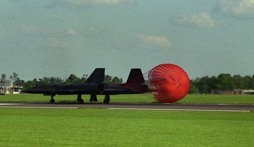 Lockheed SR-71 Blackbird at Mildenhall Air Fete in 1987 or 1988
